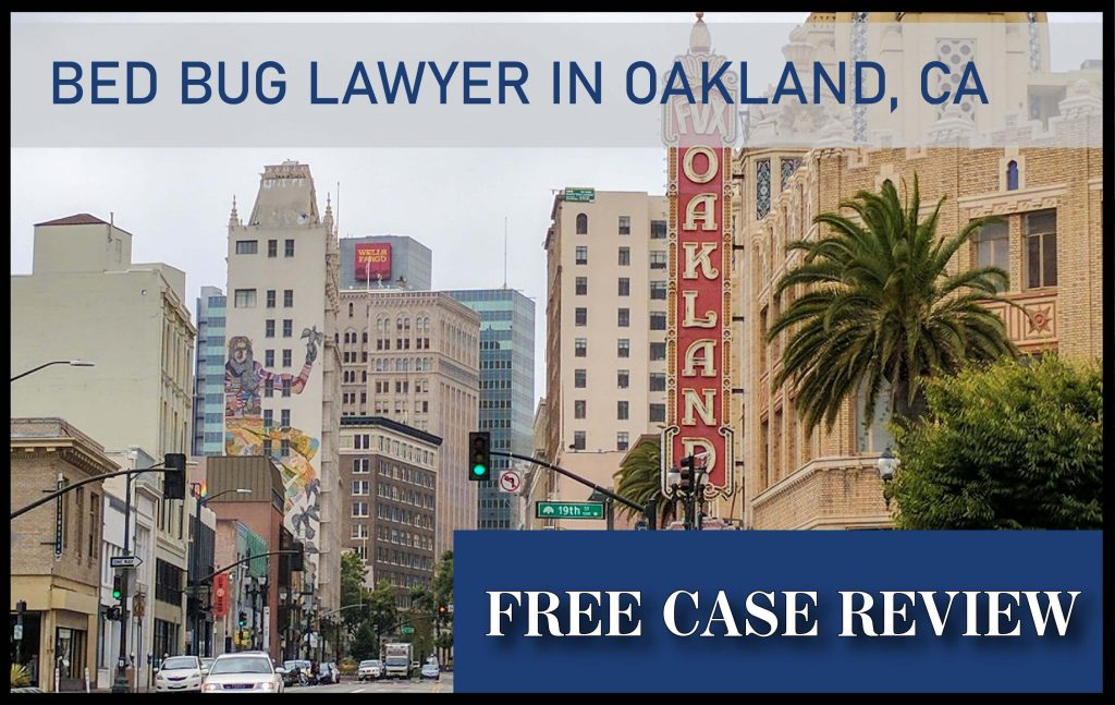 bed bug lawyer in oakland california sue compensation attorney