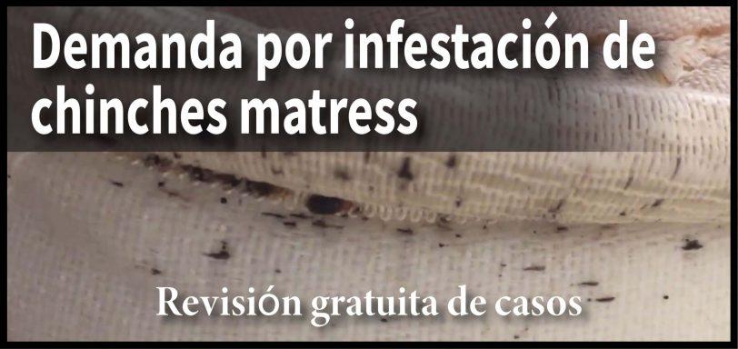 demanda por infestación de chinches matress