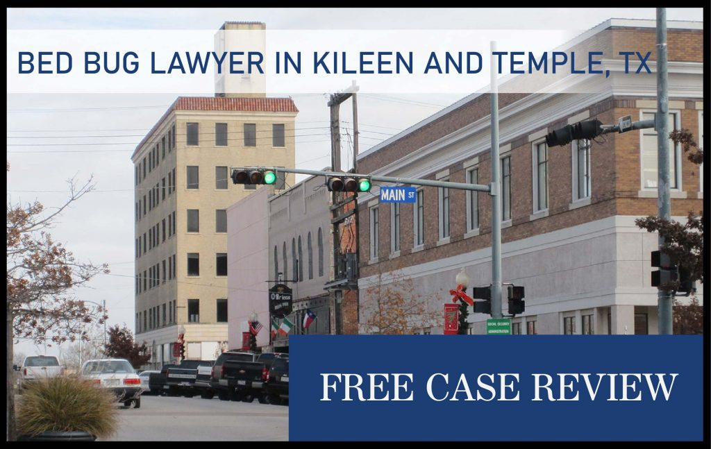kileen texas temple bed bug lawyer attorney sue