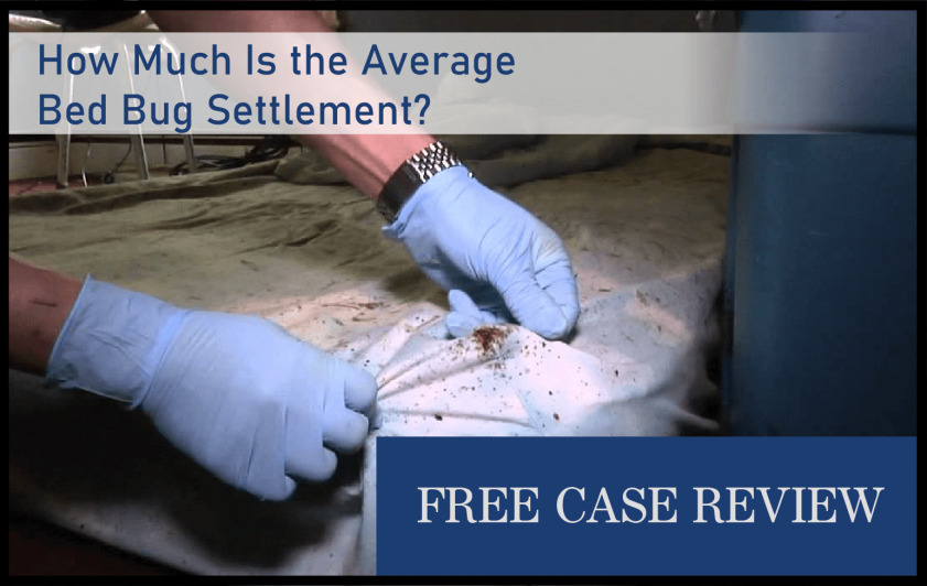 How Much Is the Average Bed Bug Settlement lawyer attorney sue compensation